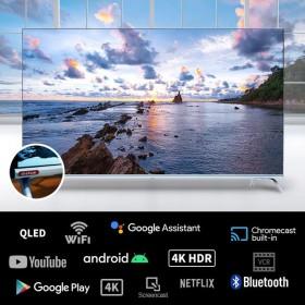 더함TV 우버 U501UHD 구글 안드로이 TV 50인치 구글 공식 인증 티비(넷플릭스/웨이브/유튜브/20년형)