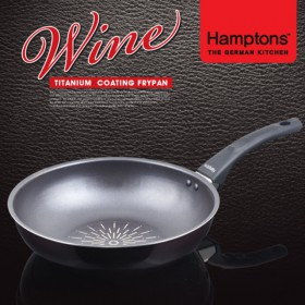 [Hamptons]독일햄튼 와인 티타늄 인덕션 궁중팬 28cm (HTW-28W)