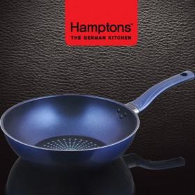 [Hamptons]독일햄튼 블루 인덕션 단조 궁중팬28cm(HTB-28W)