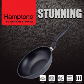 [Hamptons]독일햄튼 스터닝 다이캐스팅 인덕션 블랙 긍증팬26CM(HTSF-26W)