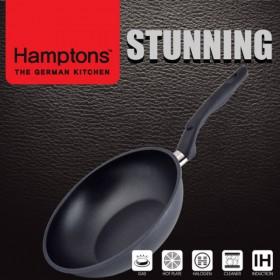 [Hamptons]독일햄튼 스터닝 다이캐스팅 인덕션 블랙 긍증팬28CM(HTSF-28W)