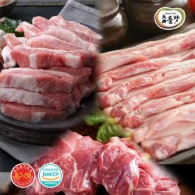 [안양축협]국산돼지 삼겹살 500g+앞다리(불고기)500g+가브리살500g