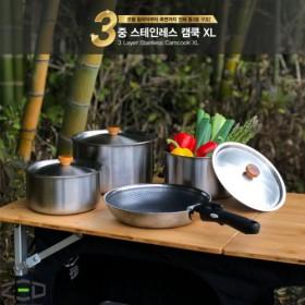 제드 3중 스텐레스캠쿡 XL ZHACK0301