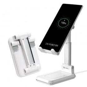 [엑스트라] WCP-200 고속 무선충전 데스크탑 홀더 핸드폰 태블릿PC 무선충전 거치대