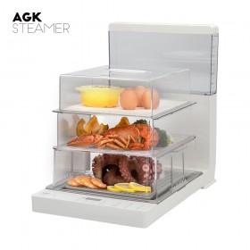 AGK 스마트 스티머 3단찜기_AKST-N6000W (레시피북 증정)