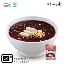 [DO603][서울마님죽]엄마의맛! 든든한 아침식사 단팥죽500g*3봉