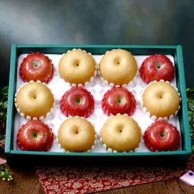 [햇살아름]당도선별! 명품 사과배혼합 선물세트2호 5.7kg이상 (사과6개,배6개/특품)