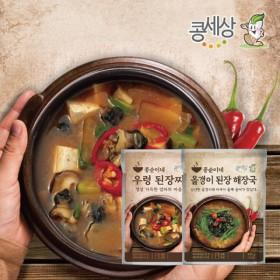 [콩세상]올갱이 된장해장국3봉+우렁된장찌개 3봉