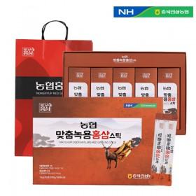 충북인삼농협 맞춤 녹용홍삼스틱 13g x 30포